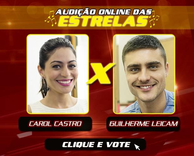 arte carol e leicam (Foto: The Voice Brasil/Gshow)