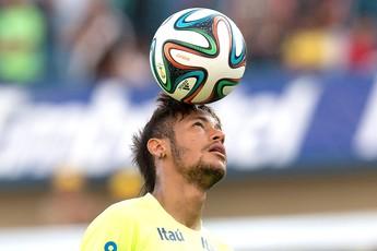 Neymar Treino Seleção Brasileira (Foto: Agência AP )