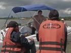 Embarcações são fiscalizadas em Avaré (Reprodução/ TV TEM)