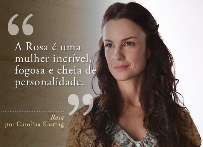 Rosa (Carolina Kasting) (Foto: Gshow)