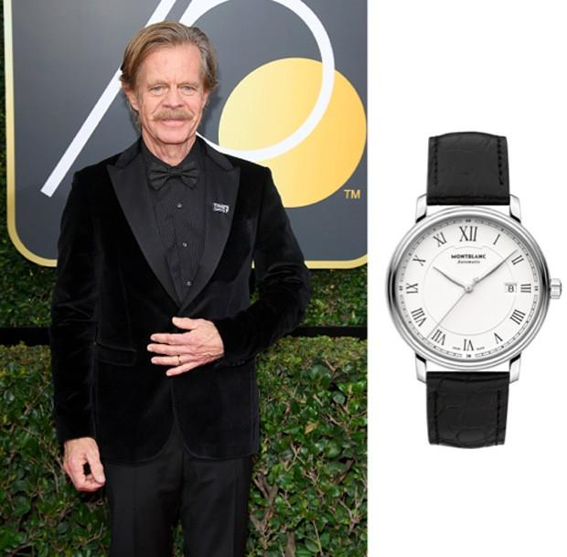 O ator William H Macy usou um Montblanc Tradition Automatic Watch 112609 no Globo de Ouro (Foto: Divulgação)