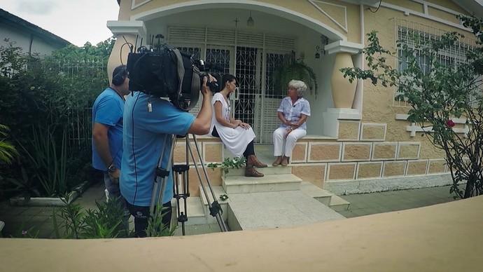 Historiadora Maria Mutti relembra fatos marcantes que aconteceram em Santo Amaro (Foto: TV Bahia)