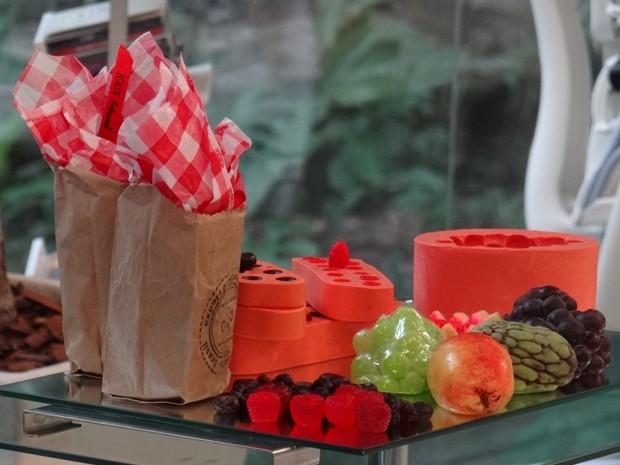Sabonetes em formato de frutas são ótimas opções para presentear alguém (Foto: Mais Você/ TV Globo)
