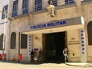Quartel-general da PM (Foto: Reprodução TV Globo)