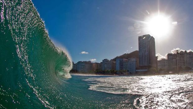 Posto 5 na praia de Copacabana, no Rio de Janeiro (Foto: Reprodução/Facebook)