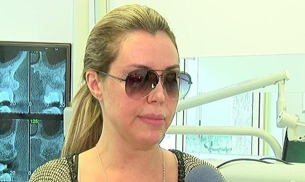 Renata Banhara em entrevista (Foto: Divulgação)