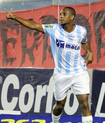 Gol de Anselmo, macaé x oeste (Foto: Tiago Ferreira / Macaé Esporte)