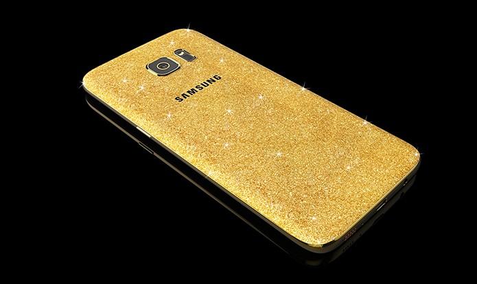 Galaxy S7 revestido a ouro vem em caixa especial e custa quase R$ 6 mil (Foto: Divulgação/Goldgenie)