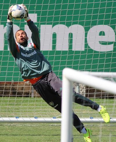 Diego Cavalieri treino Fluminense (Foto: Fernando Cazaes / Photocamera)