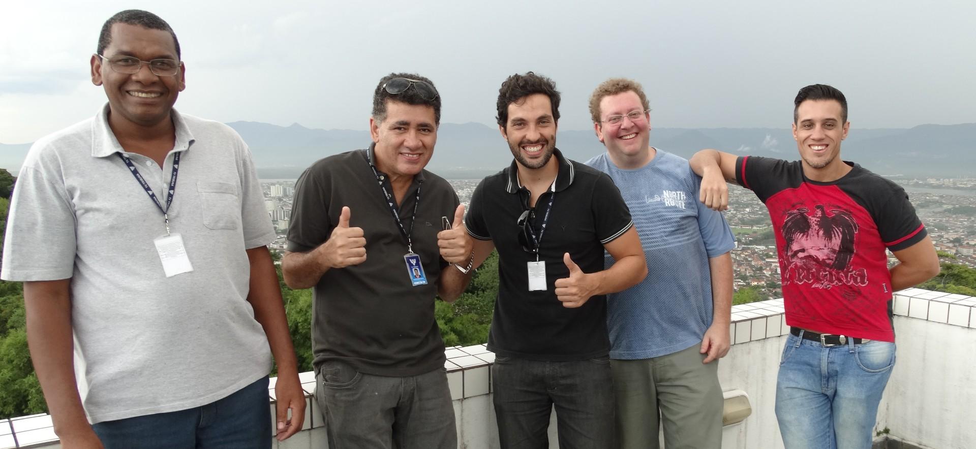 Coordenadores de Programação da TV TRibuna (Foto: Eder Pin)