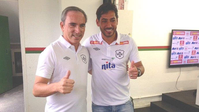 Marcos Martiniano e Rodrigão (Foto: João Paulo de Castro)