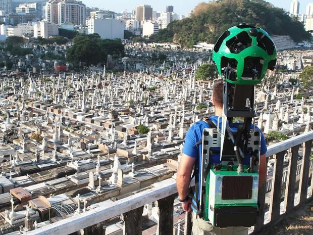 Google mapeou o terreno de mais de 183 mil metros quadrados do Cemitério São João Batista (Foto: Divulgação/ Google)