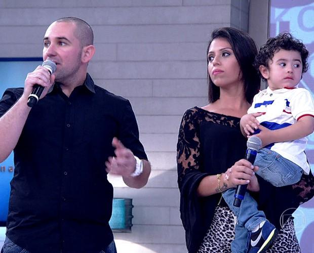 Casal foi ao Encontro para contar sua história (Foto: TV Globo)
