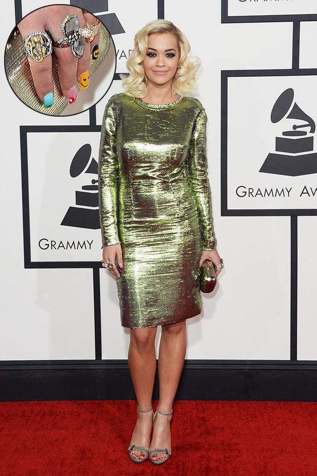 [Grammy - unhas] Rita Ora (Foto: AFP / Agência)