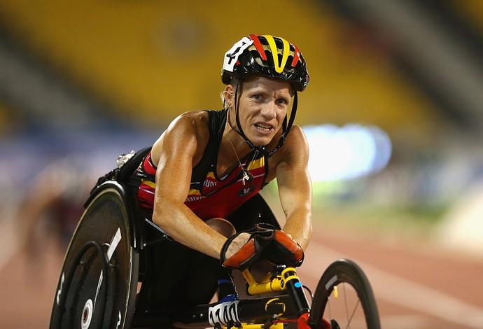 Marieke Vervoort venceu três provas no Mundial de Doha, no Catar em 2015 (Foto: Getty Images)