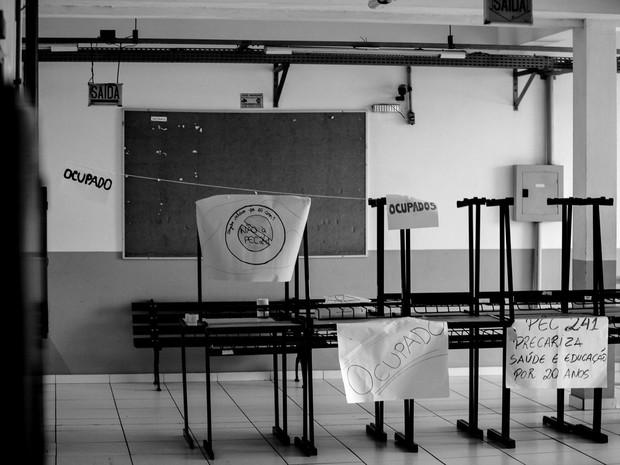 IFSC Araranguá está sem aulas (Foto: Ocupação IFSC-Araranguá contra a PEC 241/Divulgação)