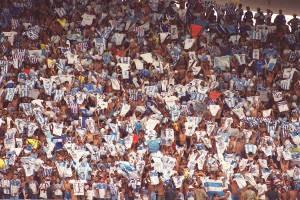 A torcida do Papão fez a diferença nos jogos em casa (Foto: Raimundo Paco / O Liberal)