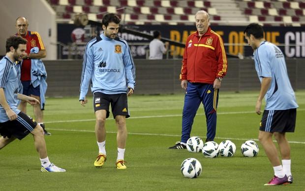 Vicente Del Bosque Espanha treino (Foto: AP)
