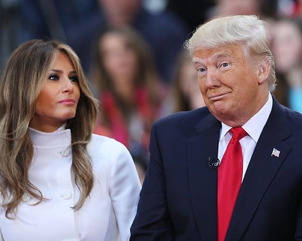 Donald Trump e a esposa Melania (Foto: Getty Images)