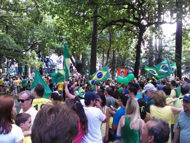 Manifestação em Serra Negra (Foto: Arquivo pessoal)