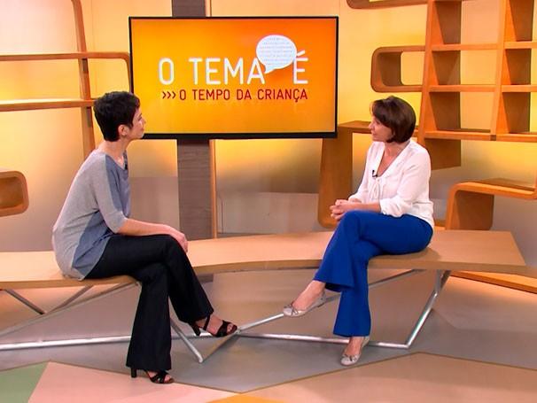 Psicóloga Ivete Gattás explica como administrar o tempo das crianças (Foto: Reprodução de TV)
