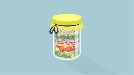 Confira o passo a passo da salada no pote
