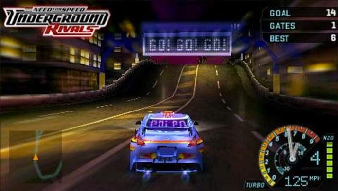 Need for Speed: Underground Rivals não fez feio no PSP (Foto: Divulgação)