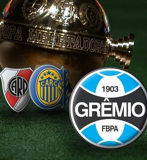 CARROSSEL - Libertadores adversários Grêmio 2  (Foto: Editoria de Arte)