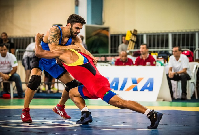 Filipe Esteves luta olímpica (Foto: Divulgação/CBW)