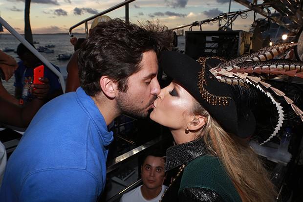 Márcio Pedreira e Claudia Leitte (Foto: Dilson Silva/ AgNews)
