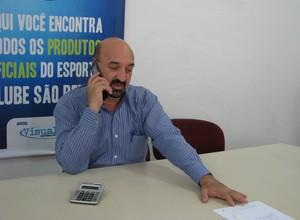 Fernando Martins da Costa Neto - presidente São Bento Sorocaba (Foto: Rafaela Gonçalves / GLOBOESPORTE.COM)