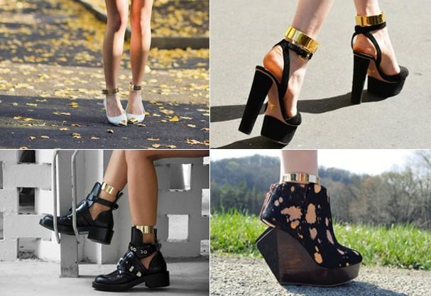 As ankle cuffs podem ser usadas com botas e sapatos de salto  (Foto: Reprodução Tumblr)