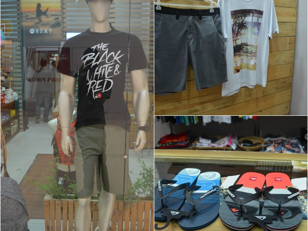 Camisetas, calças, bonés, tênis e chinelos são algumas dicas para os pais mais despojados (Foto: Jackson Félix/ G1 RR)
