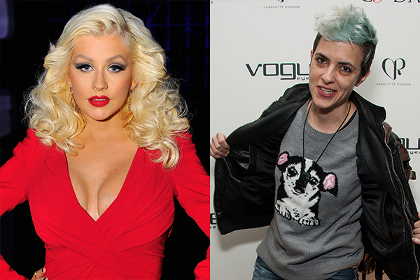 Christina Aguilera e Samantha Ronson (Foto: Getty Images)