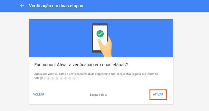 Ative a verificação em duas etapas no Gmail com a conta Google (Foto: Reprodução/Barbara Mannara) (Foto: Ative a verificação em duas etapas no Gmail com a conta Google (Foto: Reprodução/Barbara Mannara))