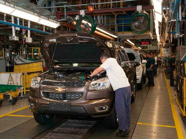 2013 - Planta onde são fabricadas a picape S10 e a SUV Trailblazer (Foto: Divulgação/ GM Brasil)
