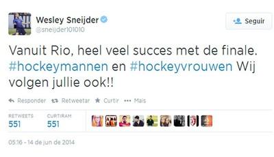 Print Sneijder (Foto: Reprodução / Twitter)