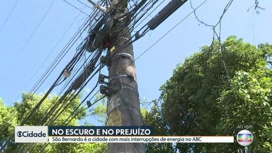 São Bernardo é a cidade com mais interrupções de energia no ABC