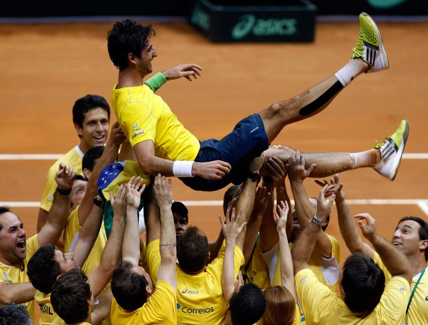 Thomaz Bellucci vence Roberto bautista tenis copa davis (Foto: Reuters)