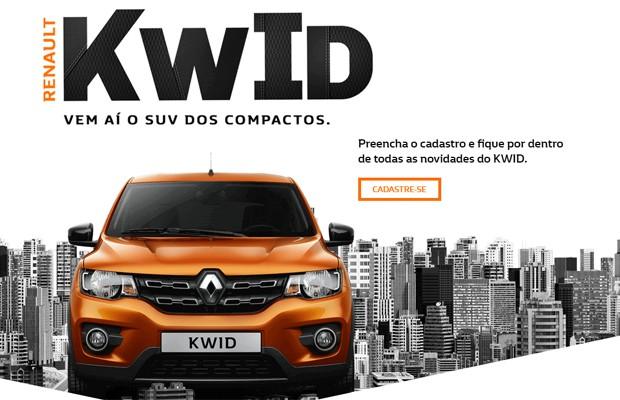 Renault Kwid ganha site no Brasil (Foto: Reprodução)
