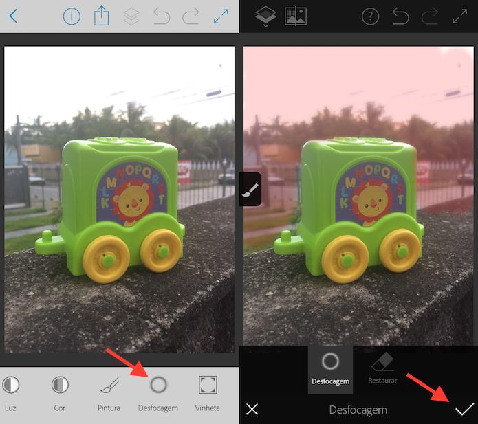 Opção para desfocar fotos no Photoshop Fix (Foto: Reprodução/Marvin Costa)