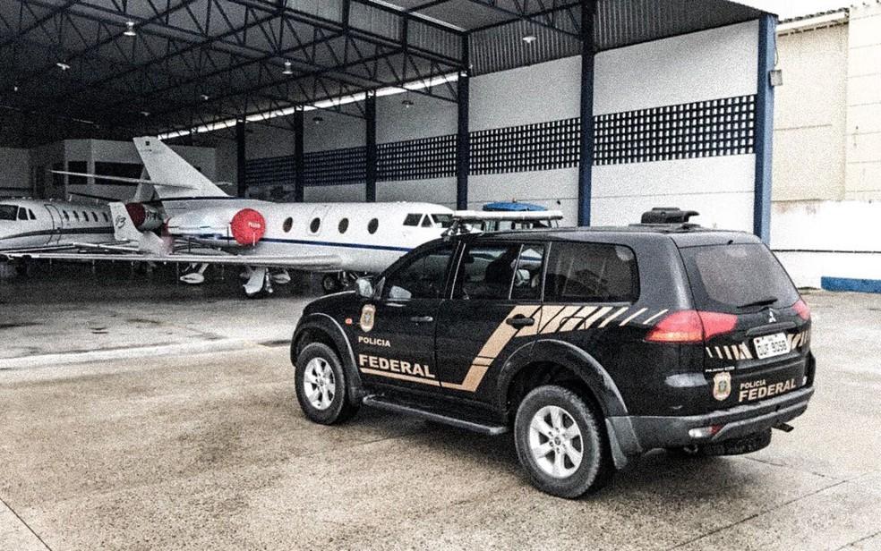 Aerovane foi apreendida em operação nesta terça-feira (Foto: Divulgação/ PF)