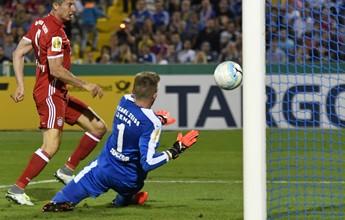 Com show de Lewandowski, Bayern goleia em primeira rodada de Copa