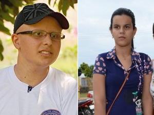 Rubens, de MG, e Laura, de RO, fizeram o Enem em condições especiais (Foto: Reprodução/Andréia Machado/G1)