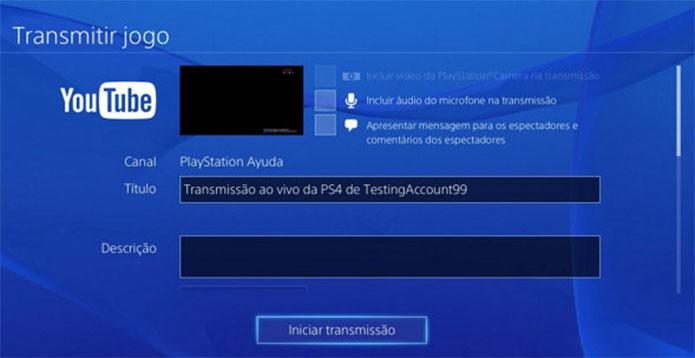 Câmera do PS4 também é usada em transmissões (Foto: Reprodução/Felipe Vinha)