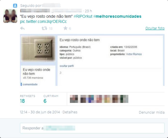 As comunidades do Orkut atraiam a maioria dos usuários da rede social (Foto: Reprodução/Twitter)
