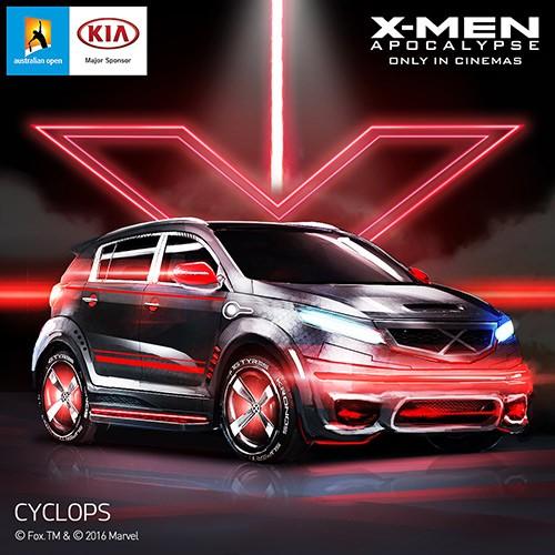Kia Sportage inspirado no personagem Ciclope, de X-Men: Apocalipse (Foto: Kia)