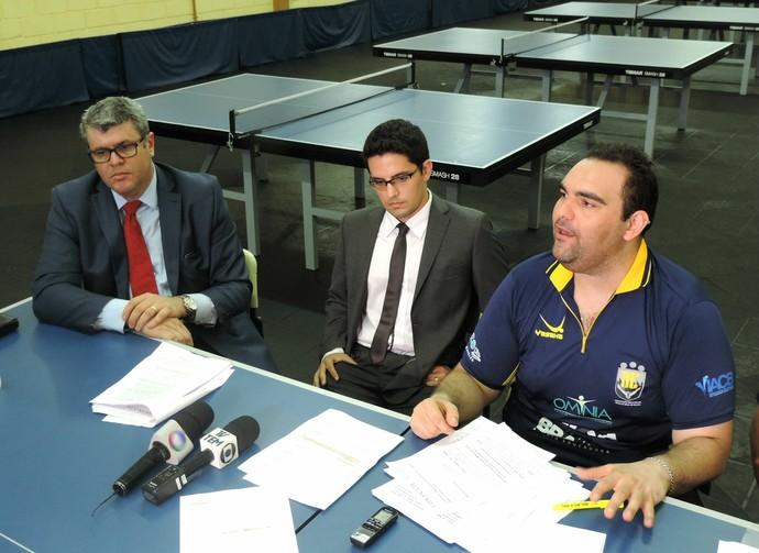 Cláudio Massad, mesatenista, paralímpico, Bauru, advogados (Foto: Sérgio Pais)