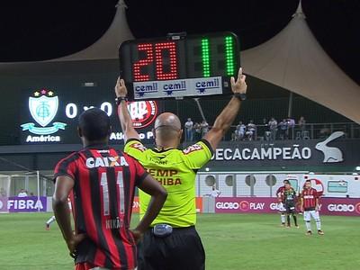 Nikão, Atlético-PR (Foto: Reprodução/Premiere)