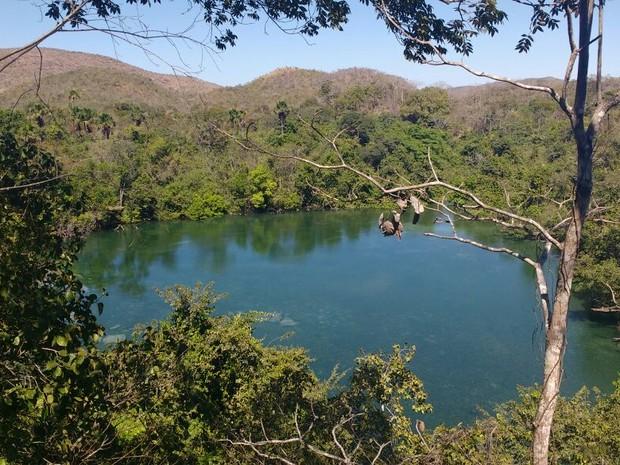Lagoa do Japonês é uma das belezas do Tocantins (Foto: Arlane Carvalho/Arquivo Pessoal)